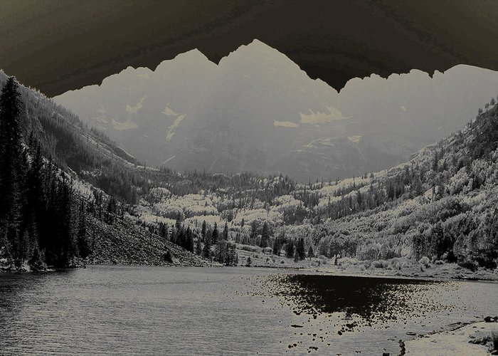 Maroon Bells Greeting Card featuring the photograph Black Bells by Jeremy Rhoades