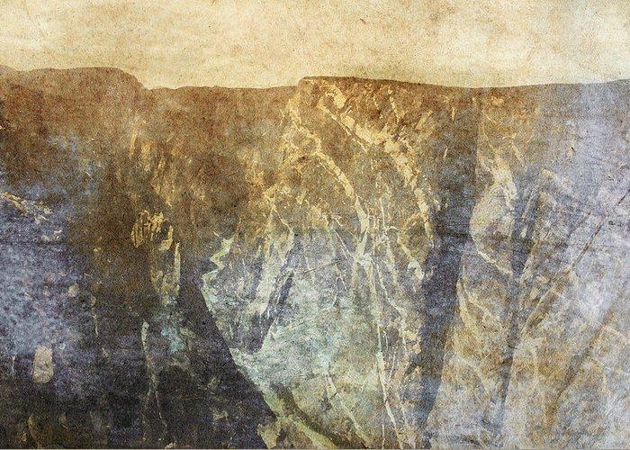 Brett Greeting Card featuring the digital art Black Canyon by Brett Pfister