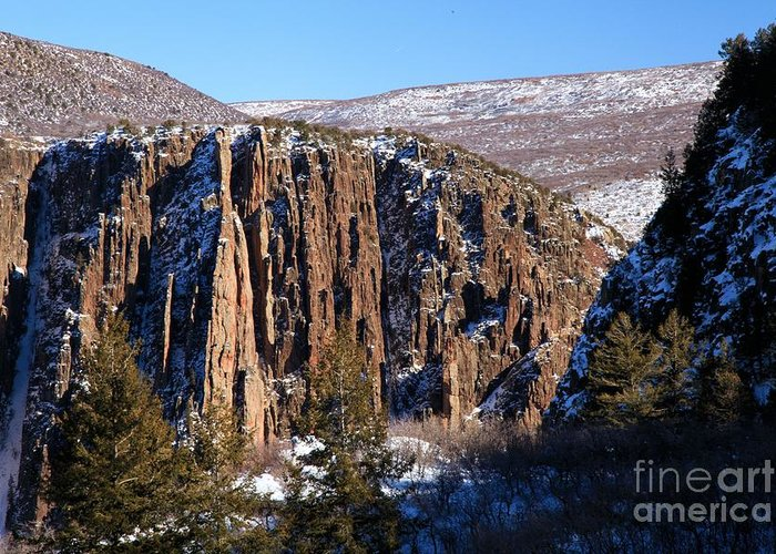 Black Canyon Of The Gunnison Greeting Card featuring the photograph Black Canyon Butte by Adam Jewell