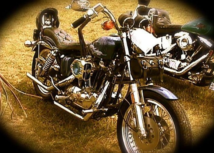 Black Motorcycle Greeting Card featuring the photograph Black Motorcycle by Chris W Photography AKA Christian Wilson