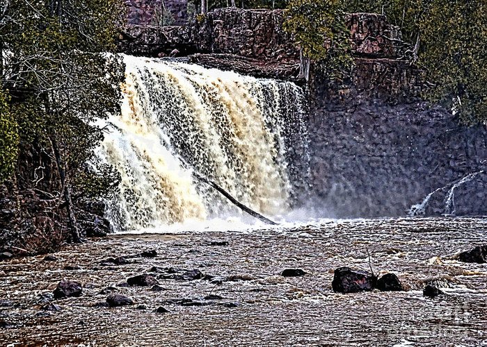 Falls Greeting Card featuring the photograph Black River Falls by Tommy Anderson