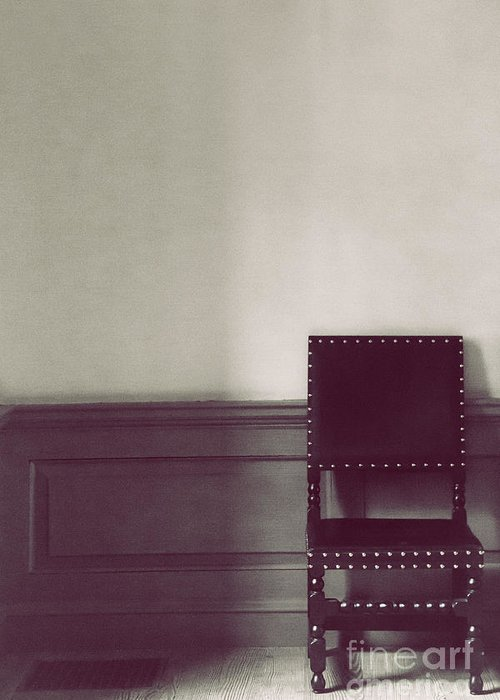 Chair Greeting Card featuring the photograph Black Stud by Margie Hurwich