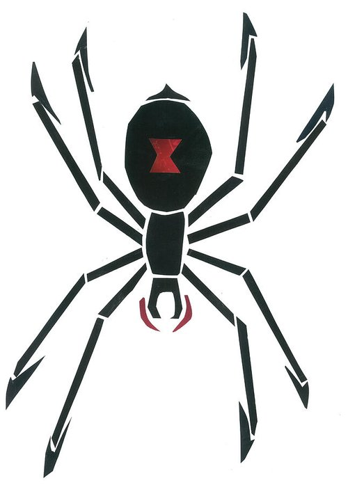 Black Widow Greeting Card featuring the mixed media Black Widow by Earl ContehMorgan