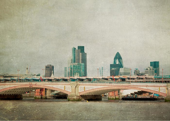 London Photo Greeting Card featuring the photograph Blackfriars Bridge by Violet Gray