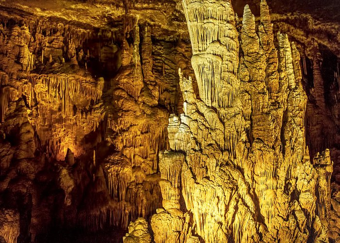 Springs Photographs Greeting Card featuring the photograph Blanchard Springs Caverns-arkansas Series 05 by David Allen Pierson