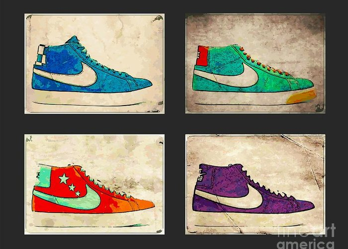 Nike Greeting Card featuring the photograph Blazer Set by Alfie Borg