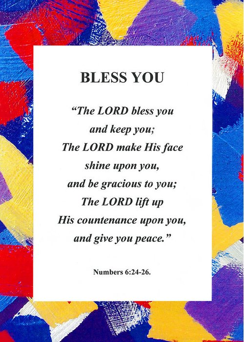 Bless You Poster Greeting Card featuring the photograph Bless You Poster by David Clode
