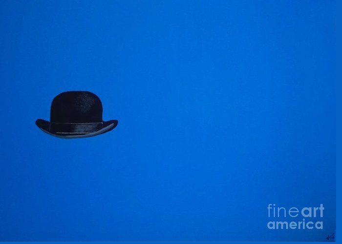 Modern Art Greeting Card featuring the painting Blimey Blue by Venus