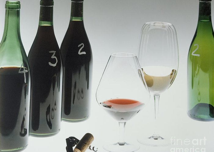 Wine Greeting Card featuring the photograph Blind Taste Test by Jerry McElroy
