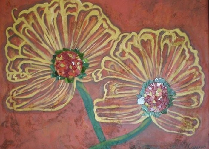 Flowers Prints Art Post Cards Bling Greeting Card featuring the painting Bling by Anthony Caruso