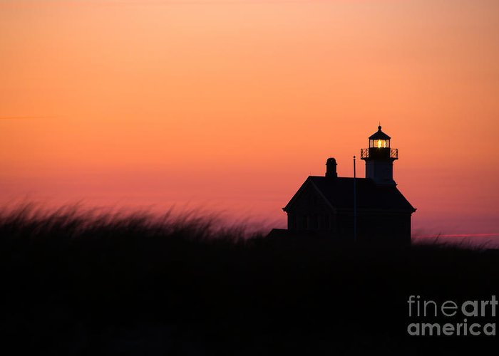 Lighthouse Greeting Card featuring the photograph Block Island North Lighthouse by Diane Diederich