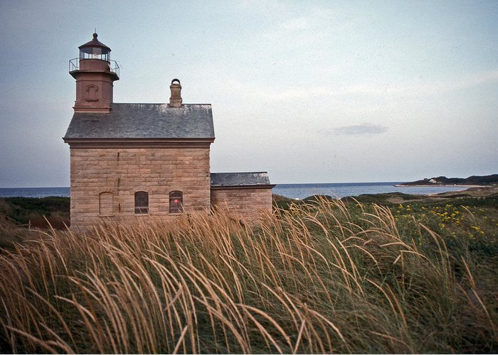 Lighthouse Greeting Card featuring the photograph Block Island North West Lighthouse by Skip Willits