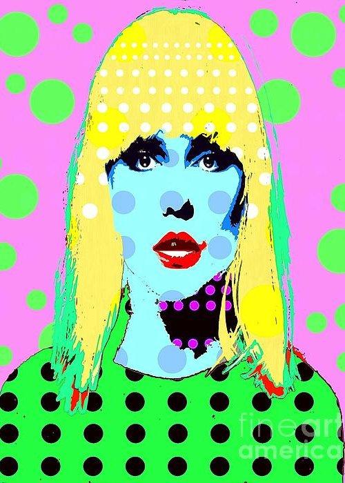 Blondie Greeting Card featuring the digital art Blondie by Ricky Sencion
