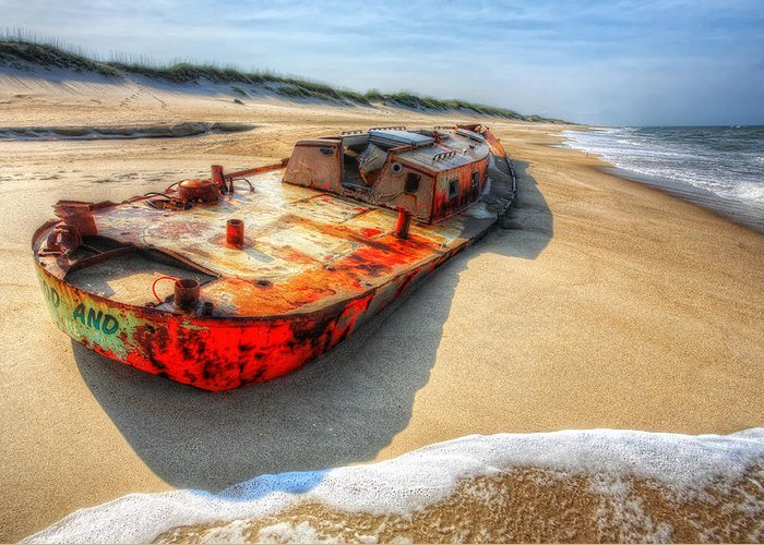 Outer Banks Greeting Card featuring the photograph Blood And Guts I - Outer Banks by Dan Carmichael