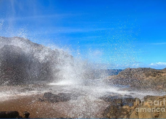 Nakalele Blowhole Greeting Card featuring the photograph Blow Hole Blow Out by James Anderson