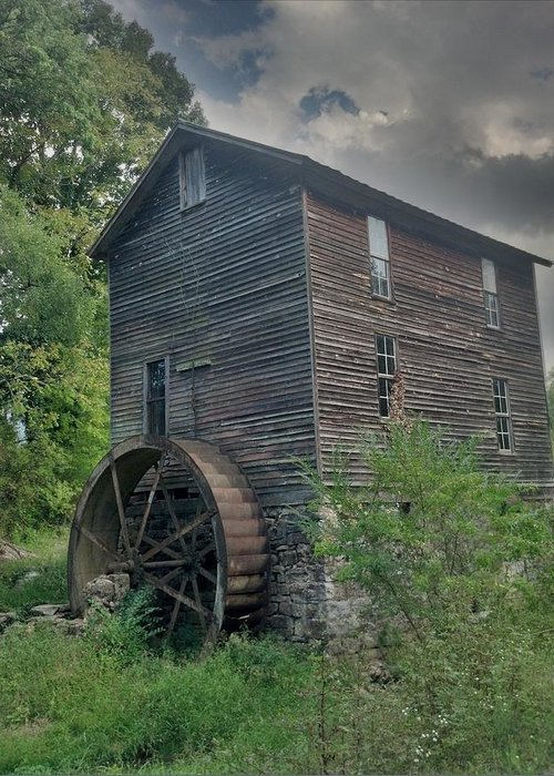 Mill Greeting Card featuring the photograph Blowing Cave Mill by Janice Spivey