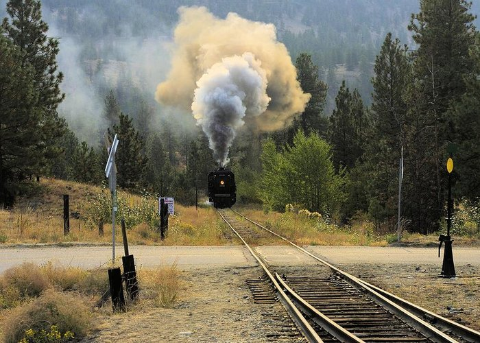 Train Greeting Card featuring the photograph Blowing Off Steam by John Greaves