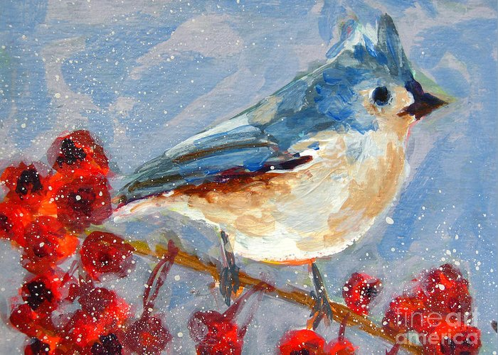 Birds In Winter Greeting Cards