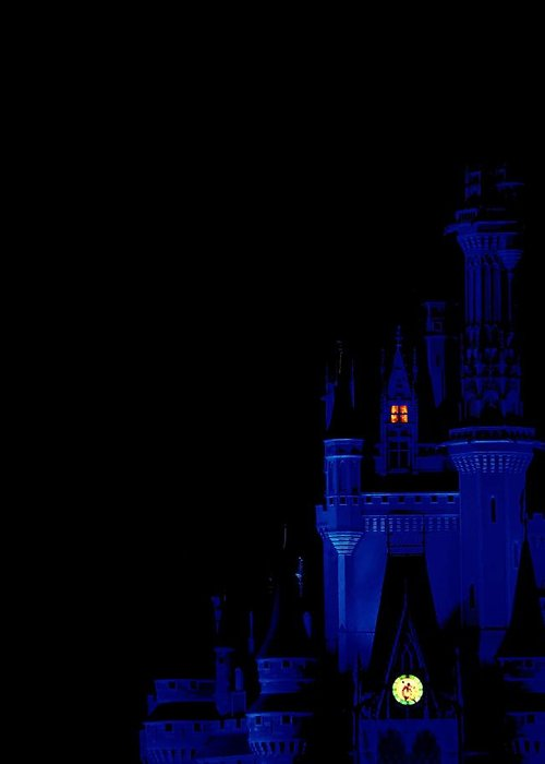 Disney Greeting Card featuring the photograph Blue Castle by Jenny Hudson