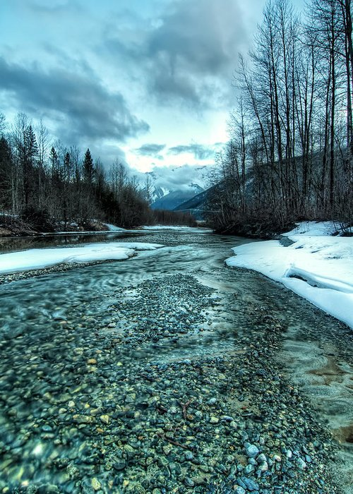 Beautiful Greeting Card featuring the photograph Blue Creek by James Wheeler