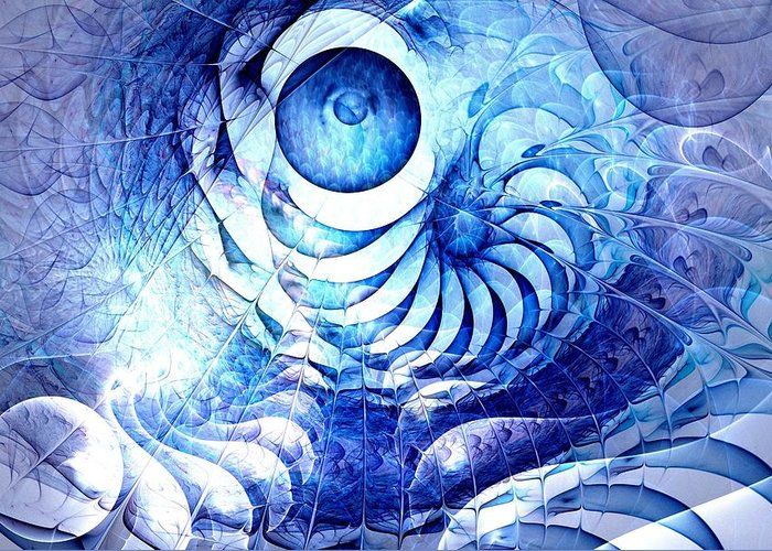 Malakhova Greeting Card featuring the digital art Blue Dream by Anastasiya Malakhova