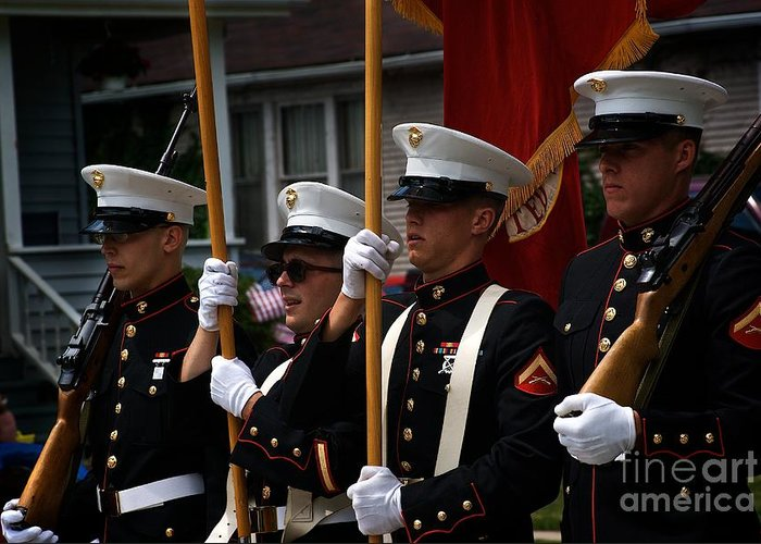 Marines Greeting Card featuring the photograph Blue by Frank J Casella