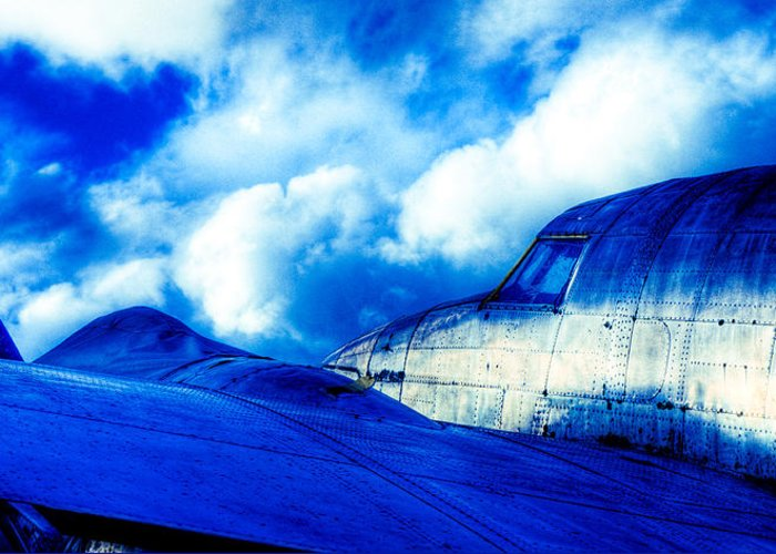 Lockheed Hudson Greeting Card featuring the photograph Blue Hudson by motography aka Phil Clark