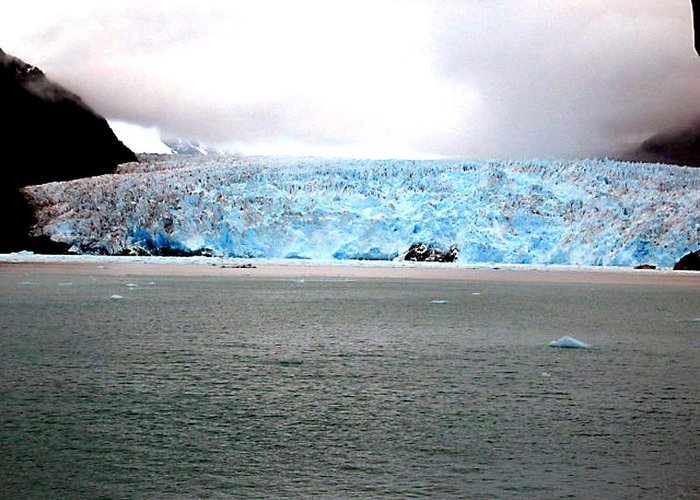 Alaska Greeting Card featuring the photograph Blue Ice by Jay Milo