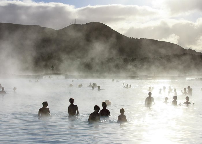 Spa Greeting Card featuring the photograph Blue Lagoon Geothermal Spa by Thomas Janisch