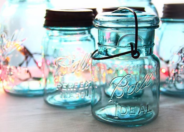 Mason Jars Greeting Cards