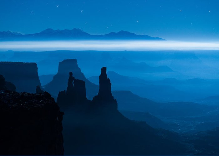 Utah Greeting Card featuring the photograph Blue Moon Mesa by Dustin LeFevre