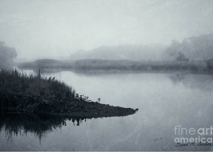 Taunton Greeting Card featuring the photograph Blue Morning Taunton River by Dave Gordon