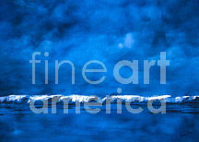 Abstract Greeting Card featuring the painting Blue On Blue by Wendy Froshay