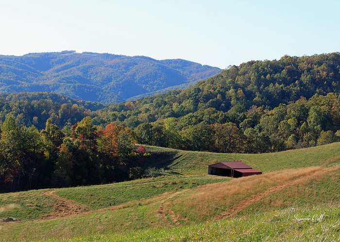 Blue Ridge Greeting Card featuring the photograph Blue Ridge Scenic by Suzanne Gaff