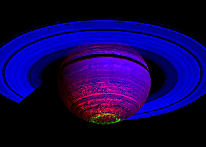 Saturn Greeting Card featuring the photograph Blue Saturn 1 by Renee Anderson