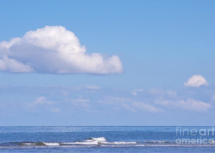 North Sea Greeting Card featuring the photograph Blue Sea by Angela Doelling AD DESIGN Photo and PhotoArt