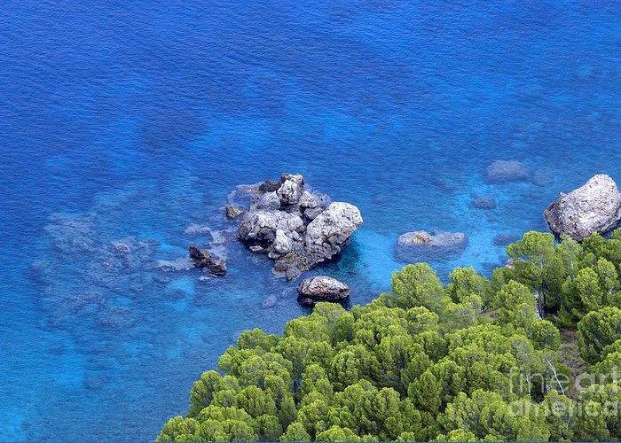 Blue Sea Greeting Card featuring the photograph Blue Sea by Boon Mee