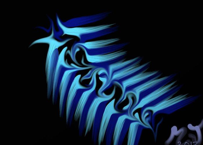 Slug Greeting Card featuring the digital art Blue Slug by Michael Jordan