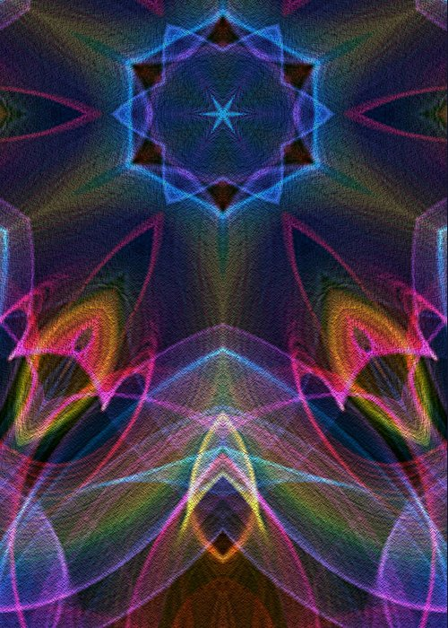 Series Echo Greeting Card featuring the digital art Blue Star by Owlspook