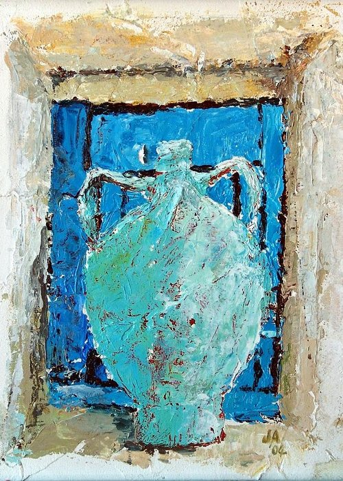 Pottery Pitcher Mixed Media Greeting Cards