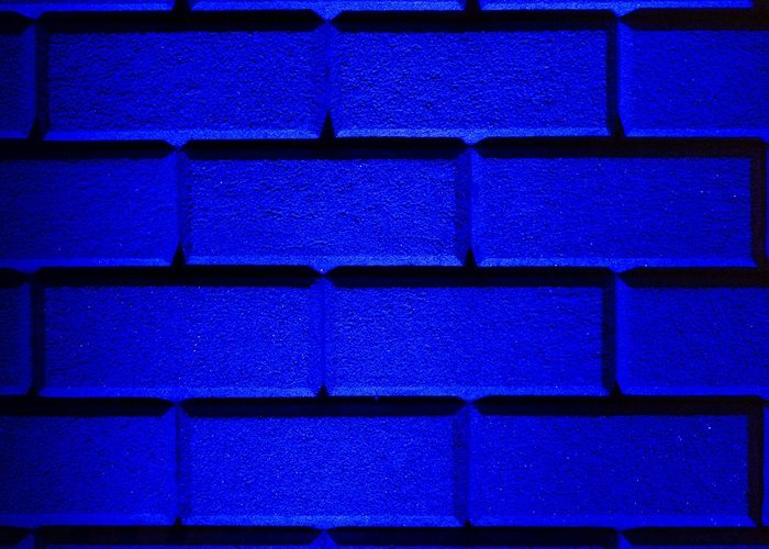 Blue Greeting Card featuring the photograph Blue Wall by Semmick Photo