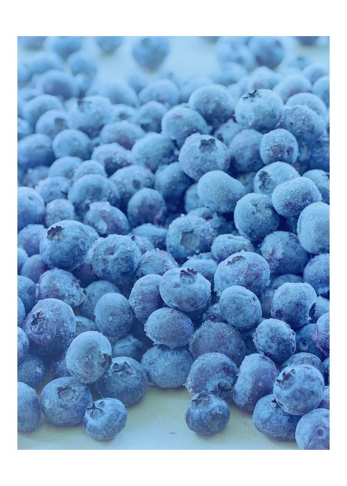 Berries Greeting Card featuring the photograph Blueberries by Romulo Yanes