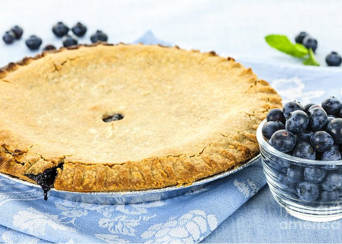 Blueberry Greeting Card featuring the photograph Blueberry Pie by Elena Elisseeva
