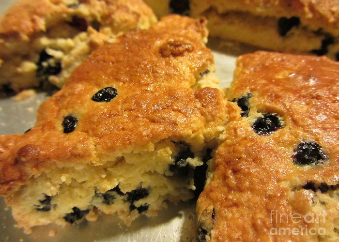 Cook Greeting Card featuring the photograph Blueberry Scones - Brunch by Susan Carella