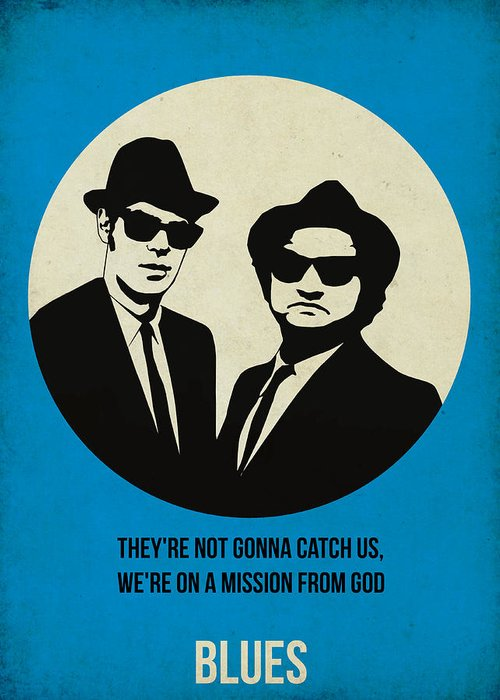 Greeting Card featuring the painting Blues Brothers Poster by Naxart Studio