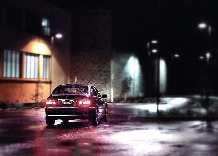 Thecarlovers Greeting Card featuring the photograph #bmw #colorextract #car #cars by Sammy Evans