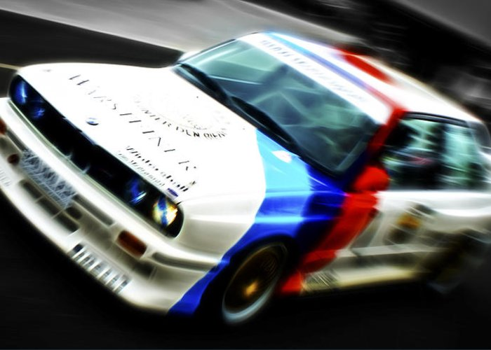 Bmw M3 Greeting Card featuring the photograph Bmw E30 M3 Racer by Phil 'motography' Clark