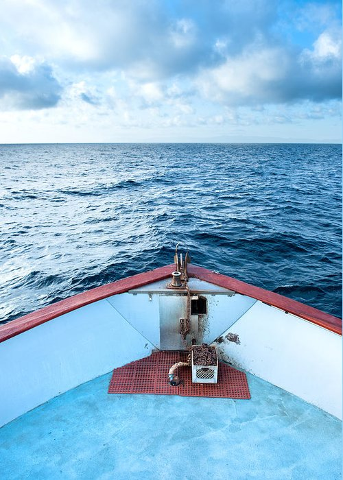 Boat Greeting Card featuring the photograph Boat Bow by Joe Belanger