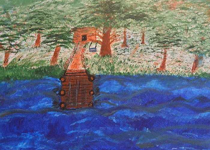 Dock Greeting Card featuring the painting Boat Dock by Melissa Conaway