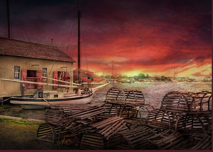 Hdr Greeting Card featuring the photograph Boat - End Of The Season by Mike Savad